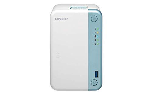 QNAP TS-251D-4G Desktop-NAS-Gehäuse mit 2 Schächten - 4 GB RAM - 2,0 GHz Dual Core-Prozessor mit AES-NI-Verschlüsselung und 4K-Hardware-Transcodierung*