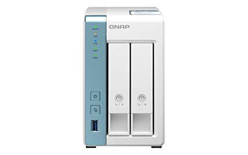 QNAP TS-231P3-2G 2 Bay Desktop NAS Gehäuse - Netzwerkspeicher mit 2.5GbE Konnektivität, 2GB RAM, Quad-Core 1.7GHz Prozessor - mit funktionsreichen Anwendungen für Heim und Büro