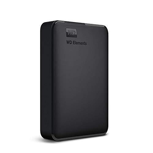 WD Elements externe Festplatte 4 TB (USB 3.0-Schnittstelle, Plug-and-Play, kompakt und leicht) schwarz