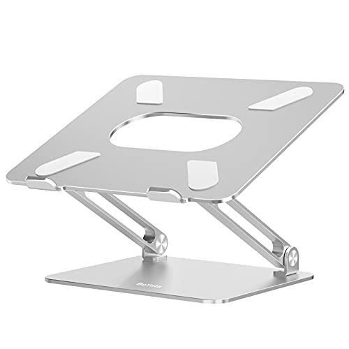 BoYata Laptop Ständer, Aluminium Höhenverstellbarer Belüfteter Laptophalter, Notebook Stand Kompatibel für Laptop (10-17 Zoll) MacBook, Dell, Lenovo, Samsung, Acer und Huawei MateBook