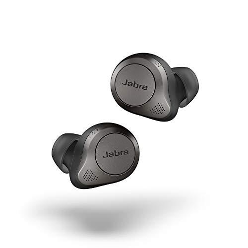 Jabra Elite 85t True Wireless In-Ear Bluetooth Kopfhörer - Earbuds mit Advanced Active Noise Cancellation und kraftvollen Lautsprechern - Kabelloses Ladegehäuse - titanschwarz
