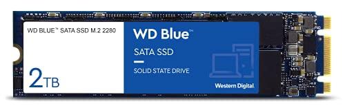 WD Blue SATA SSD M.2 2280 2 TB (interne SSD, hohe Zuverlässigkeit, Lesevorgänge bis zu 560 MB/s, stoßsicher und WD F.I.T. Lab-zertifiziert)