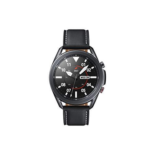 Samsung Galaxy Watch3, runde Bluetooth Smartwatch für Android, drehbare Lünette, LTE, Fitnessuhr, Fitness-Tracker, großes Display, 45 mm, schwarz, inkl. 36 Monate Herstellergarantie [Exkl. bei Amazon]*