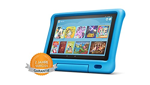 Fire HD 10 Kids -Tablet   Ab dem Vorschulalter   10,1 Zoll, 1080p Full HD-Display, 32 GB, blaue kindgerechte Hülle (vorherige Generation – 9.)