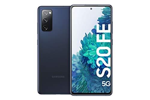 Samsung Galaxy S20 FE 5G, Android Smartphone ohne Vertrag, 6,5 Zoll Super AMOLED Display, 4.500 mAh Akku, 128 GB/ 6 GB RAM, Handy in Dunkelblau inkl. 36 Monate Herstellergarantie [Exklusiv bei Amazon]*