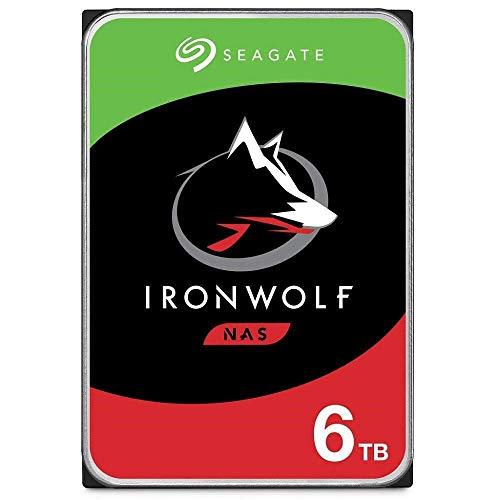 SeagateIronWolf 6 TB HDD, NAS interne Festplatte (8, 9 cm (3, 5 Zoll), 7200 U/Min, 256 MB Cache, SATA 6 Gb/s, silber) Modellnr.: ST6000VN001