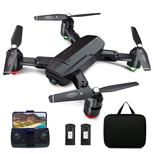 Dragon Touch GPS Drohne mit Kamera 1080P HD, haltbar RC Quadrocopter mit WiFi FPV Live Übertragung/Tap Fly/Follow Me/Höhenhaltung/3 Geschwindigkeiten/Headless Modus für Anfänger mit Tragetasche DF01G*