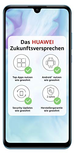 HUAWEI P30 lite Dual-SIM Smartphone Bundle (6,15 Zoll, 128 GB ROM, 4 GB RAM, Android 9.0) Peacock Blue + SD Karte [Exklusiv bei Amazon] - DE Version*