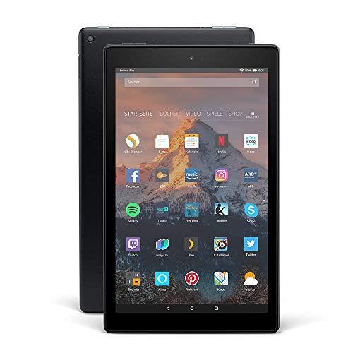 Fire HD 10-Tablet, 1080p Full HD-Display, 64 GB, Schwarz, Mit Werbung (vorherige Generation – 7.)