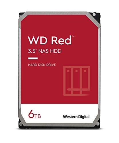WD Red 6TB NAS 3.5' Interne Festplatte - 5400 RPM Class, SATA 6 Gb/s, SMR, 256MB Cache