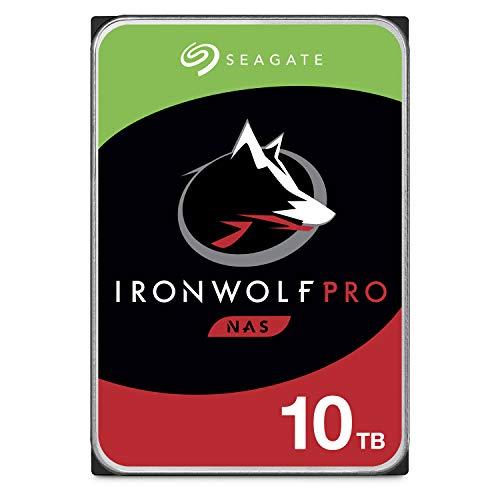 Seagate IronWolf Pro 10TB NAS interne Festplatte HDD - CMR 3,5 Zoll SATA 6Gb/s 256MB Cache für RAID Netzwerk Attached Storage, Datenwiederherstellungsdienst - frustfreie Verpackung (ST10000NE0008)