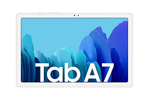 Samsung Galaxy Tab A7, Android Tablet, WiFi, 7.040 mAh Akku, 10,4 Zoll TFT Display, vier Lautsprecher, 32 GB/3 GB RAM, Tablet in Silber