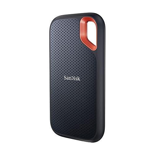 SanDisk Extreme Portable SSD 1 TB externe SSD (externe Festplatte mit SSD Technologie 2,5 Zoll, 1050 MB/s Lesen, 1000 MB/s Schreiben, stoßfest, AES-Verschlüsselung, wasser- und staubfest) grau
