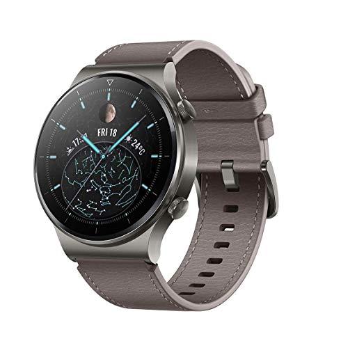 HUAWEI WATCH GT 2 Pro Smartwatch, 1,39 Zoll AMOLED HD-Touchscreen, 2 Wochen Akkulaufzeit, GPS & GLONASS, SpO2, 100+Trainingsmodi, Bluetooth-Anrufe, Herzfrequenzmessung, Nebula Grey*