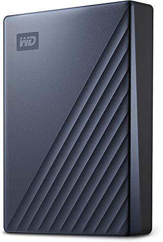 WD My Passport Ultra mobiler Speicher 5 TB (Metallgehäuse, WD Discovery Software, automatische Backups, Passwortschutz) Blau - auch kompatibel mit PC, Xbox und PS4