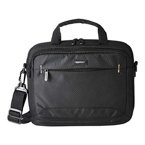 Amazon Basics Laptop- und iPad-Tablet-Schultertasche, für Laptops bis zu 11,6 Zoll (29,4 cm), Schwarz, 1 Stück