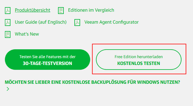 Kostenloses Backup mit dem Veeam Agent - Lost in IT