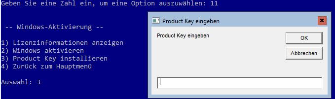 Windows Server Core aktivieren