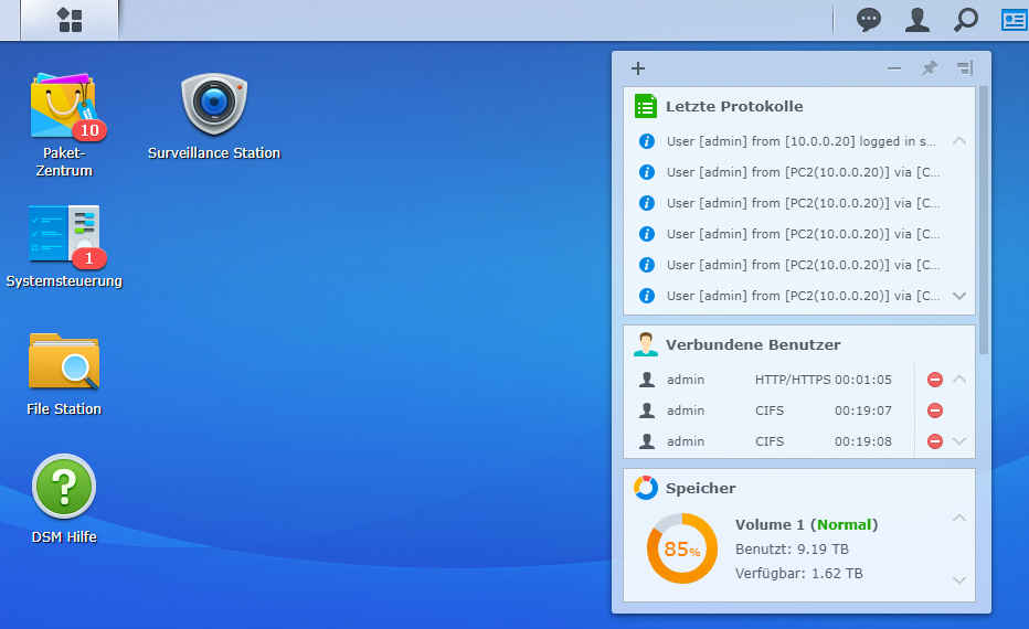 Synology DSM Desktop
