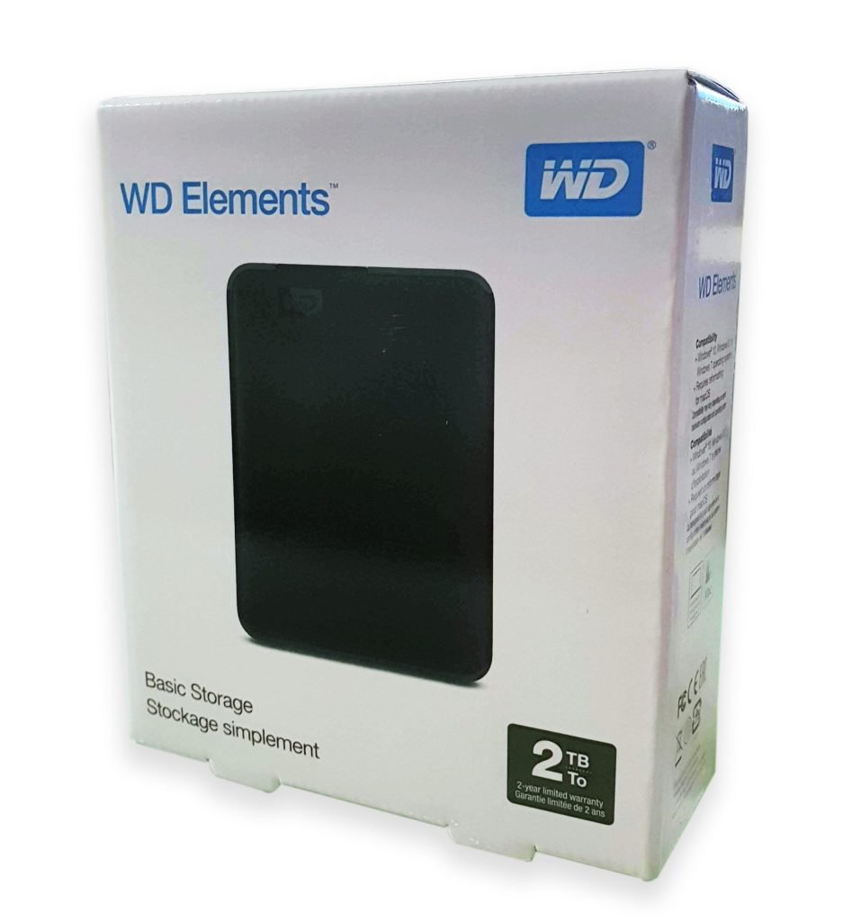 Western Digital Elements Portable Verpackung