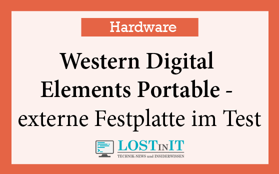 Western Digital Elements Portable – externe Festplatte im Test