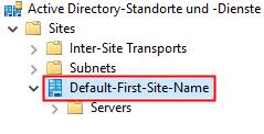 Active Directory Site Name herausfinden
