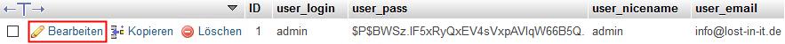 Passwort vergessen WordPress zurücksetzen