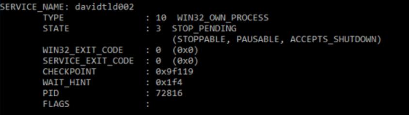Abgestürzter Dienst im Status STOP_PENDING
