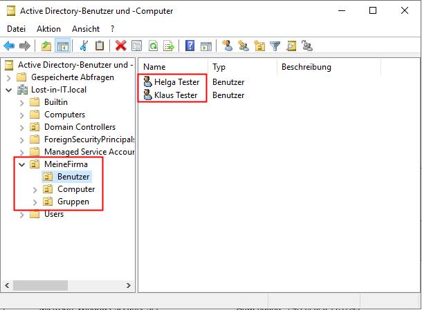 Sinnvolle Struktur im Active Directory