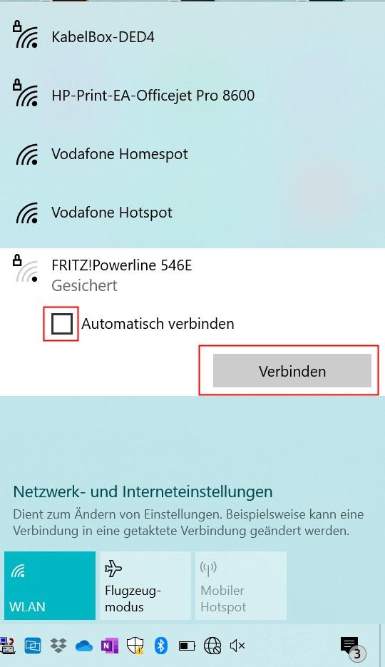 Verfügbare WLAN Netze anzeigen unter Windows