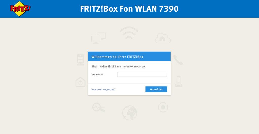 Webinterface von Router - WLAN Grundlagen für das Heimnetz