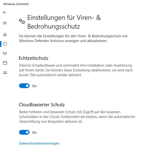 Windows Echtzeitschutz