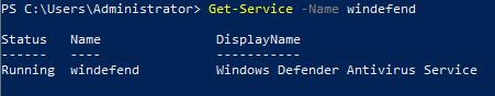Windows Defender Dienst aktiv