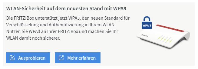 WPA3 auf der FritzBox 7590
