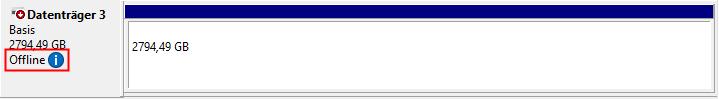 Hyper-V USB Stick wird als offline angeigt