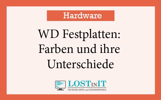 WD Festplatten – Farben und ihre Unterschiede